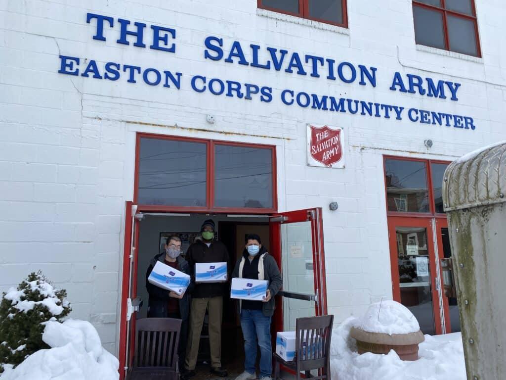 Wipe Distribution covid19 salvation army easton